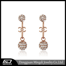 Cute Shape Bali Jewelry Earring, Dubai Gold Jewelry Earring, Light Weight Gold Earring