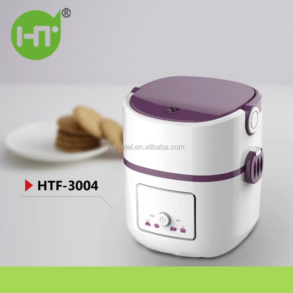 2017 New Design Mini Rice Cooker HTF-3004 Item DIY Keep Warm Thermal Electric Heated Lunch Box