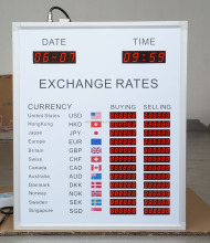 fire rated mineral fiber board /Foreign Currency Exchange Rate Indoor LED display for hotel /BABBITT