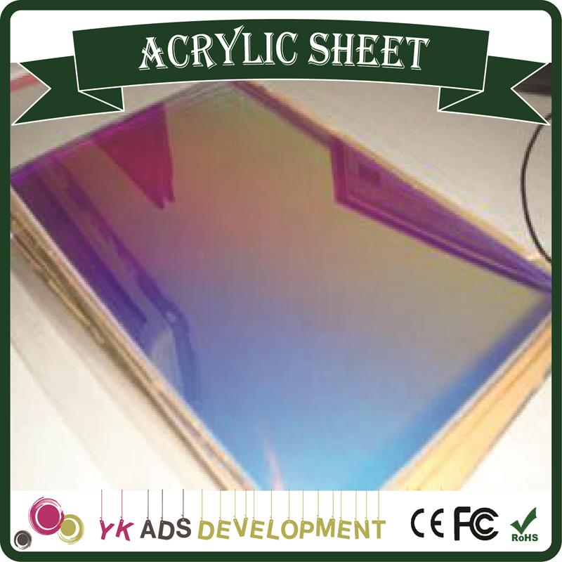 Sample only Hot Sale Beautiful Iridescent Acrylic Sheet Fluorescent iridescent film <strong>roll</strong>
