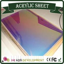 Sample only Hot Sale Beautiful Iridescent Acrylic Sheet Fluorescent iridescent film roll