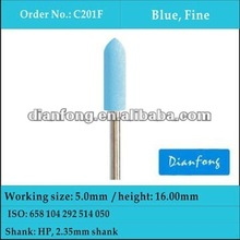 blue soft flexible silicone polisher for alloys