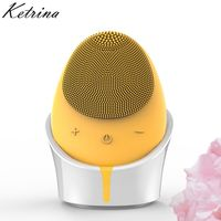 2018 New design spa salon equipment electric face scrubber automatic makeup brush cleaner