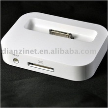 HOT SALE! Charger dock USB charger for Iphone 4G with audio out jack