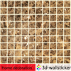 New design removable marble granite stone interior decorative wall tile for bathroom wall refresh