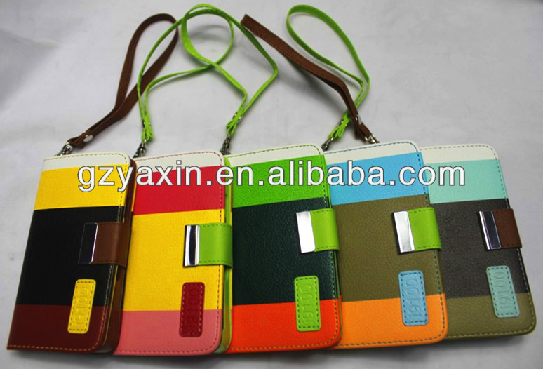 leather book case for samsung galaxy s2,for samsung galaxy s2 wallet leather case