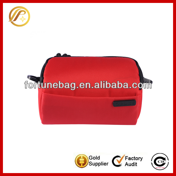 Shockproof red padded canvas bag camera bag