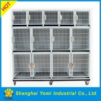 Commercial heavy duty double door dog cage