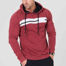 New Style Customize fashion slim fit fitness wear hoodie pullover with custom brand for men