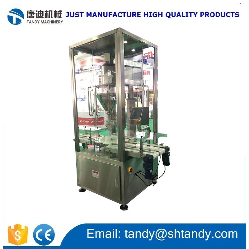 Automatic Milk Powder Tin Filling machine / Milk Powder Canning Filling Machine With Auger filler