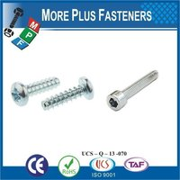 Taiwan Stainless Steel 18-8 Copper Brass Aluminum Brass PT Thread Forming Screw Pan Head Torx Serration Face Flange
