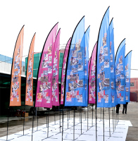 Triangle hanging flags directly factory/outdooe advertising display
