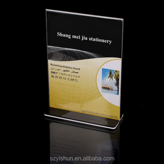 Hot sale A5 acrylic brochure holder,acrylic menu holder