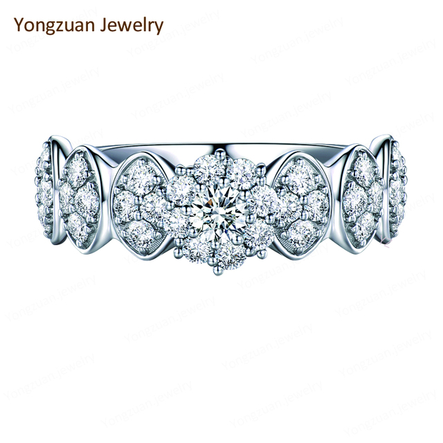Jewellery Fair Popular Design Dreaming Bar Setting 1 Carat High End Luxury Natural Round Diamond Engagement Rings