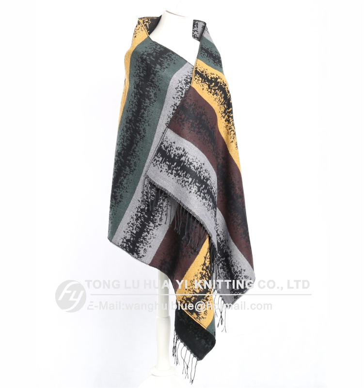winter woven 100% acrylic fashion ladies stylish square scarf