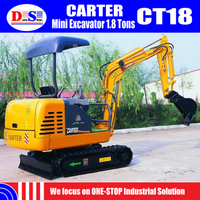 Japan 3TNV82A Engine Micro Digger 1.8 Tons 2 Tons - Cheap Mini Excavator CARTER CT18 - Small Hydraulic Excavator