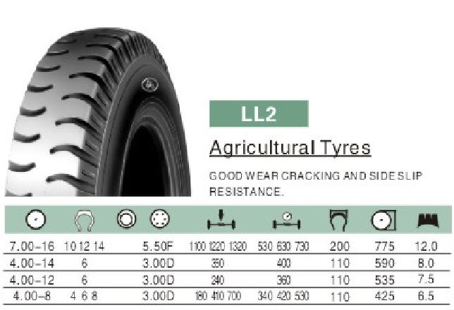 Linglong Agricultural Tyre 7.00-16 4.00-14 4.00-12 4.00-8