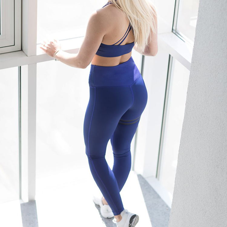 2018 Fitness Running Sports Navy Tights For Women Quick Dry Yoga Pants