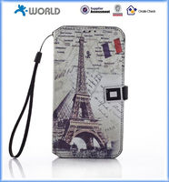 Vintage Retro Painted Art Series PU Leather Wallet Flip Case Cover with Card Slot for samsung s5