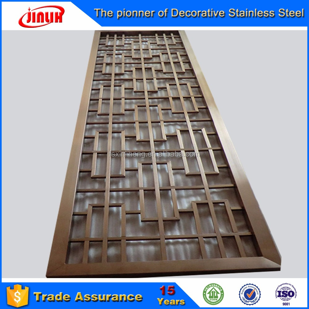 laser cut <strong>stainless</strong> steel decorative folding screen room divider