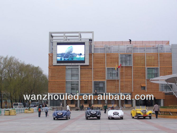 outdoor p20 wall led display screen/full color outdoor wall billboard p25
