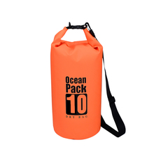 Lightweight 10L camping hiking bladder type tarpaulin PVC waterproof dry bag backpack
