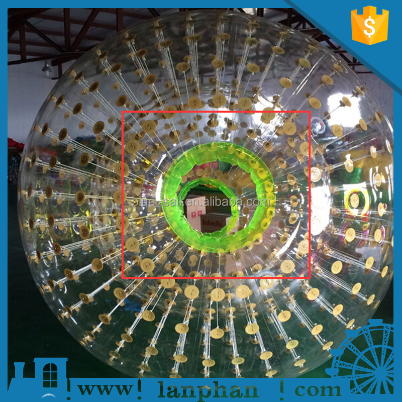 Transparence Colorful Grass TPU PVC Kids Mini Inflatable Zorb Ball for Sale