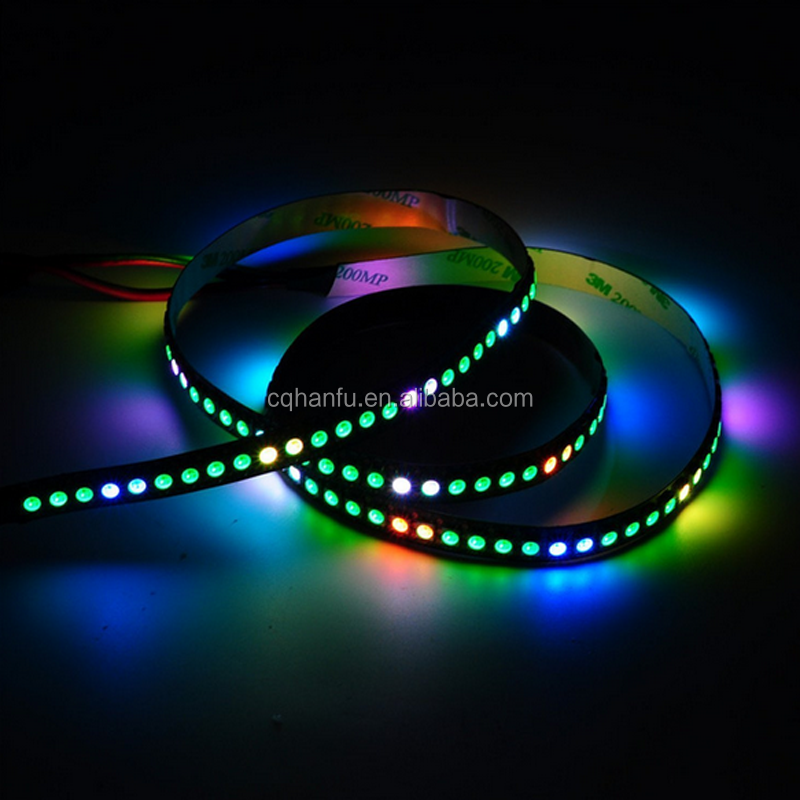 white PCB 144led/m SMD led ribbon strip IP20 digital SK6812 flexible strip