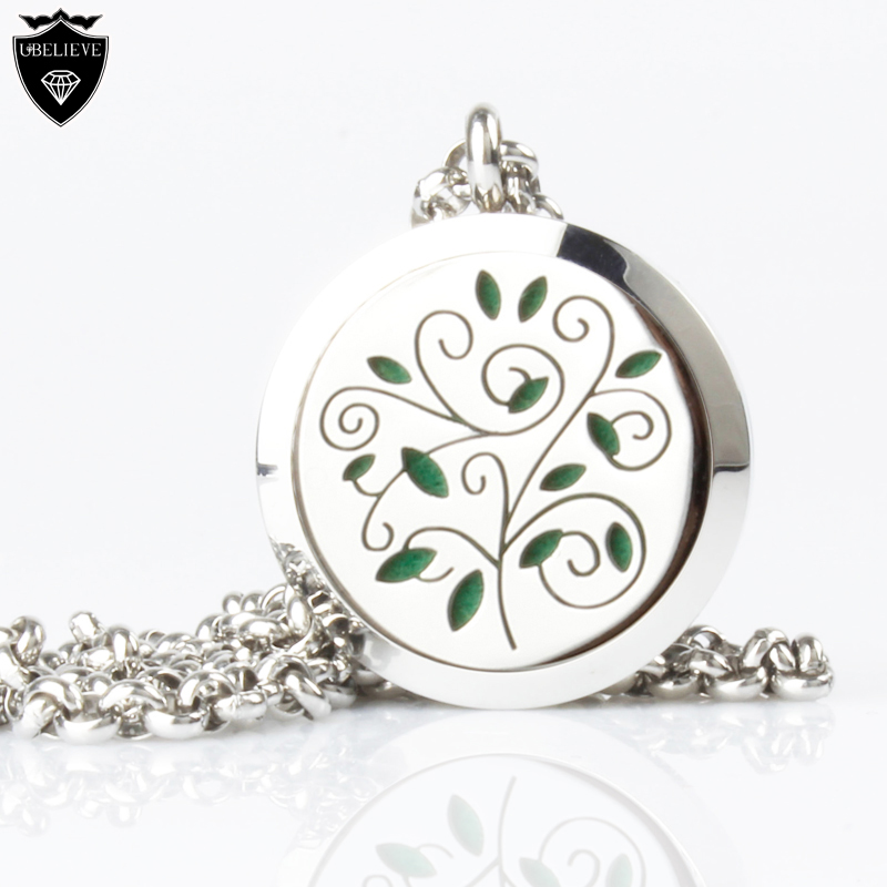 Free shipping silver 316L stainless steel Essential Oil Diffusing Necklace <strong>Pendant</strong>