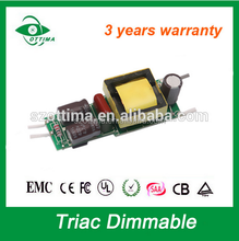triac dimmable led driver 30v dc switch power constant current cob open frame 300mA driver led