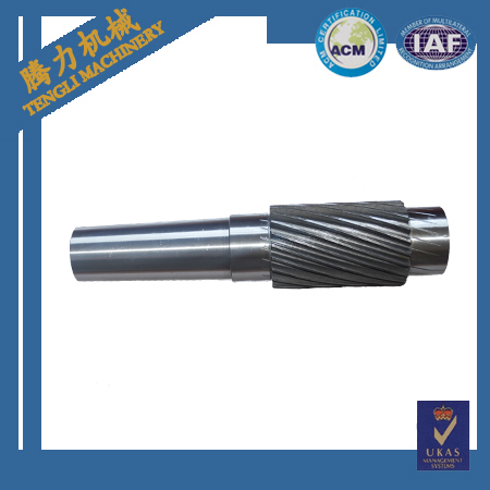 China Supplier 42crmo4 4140 Forged Steel Shaft Gear Shaft