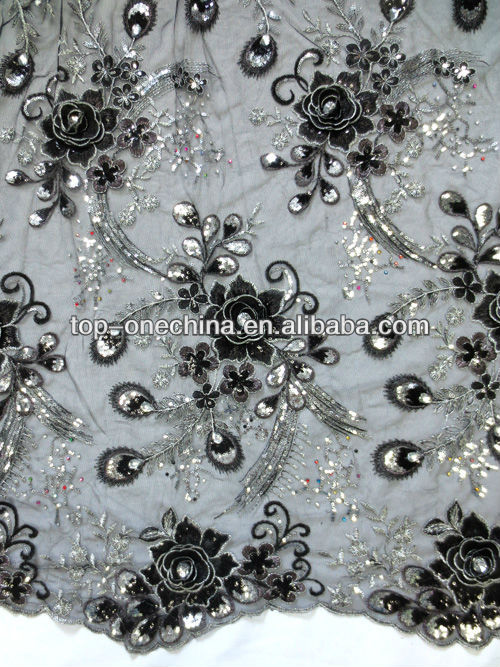 2016 fashion nigeria guipure lace ,african french lace fabric embroidery lace fabric for party