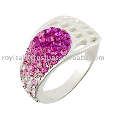 Silver Crystal Fashion Ring Jewelry
