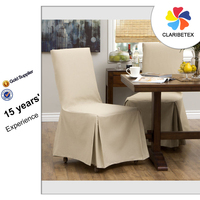 High reputation Ivory Self Tie Cotton Home Chair Cover, Slipcover