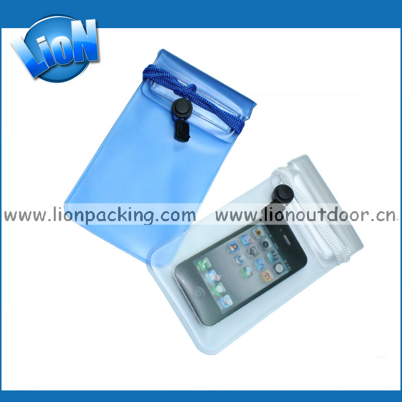 Inflatable PVC Waterproof Pouch Mobile Phone bag /durable and soft cellphone case