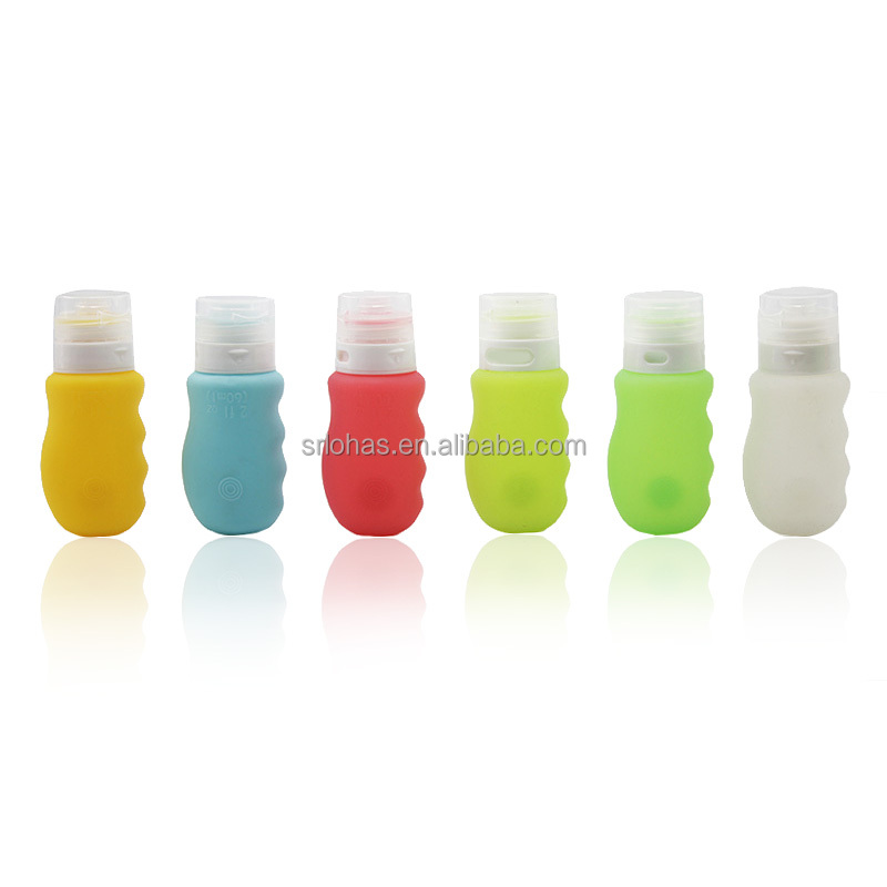 Fashion design portable silicone travel cosmetic bottles