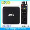 Best factory price 1gb ram 8gb rom AMLogic S812 Quad Core 2.0GHz M8S android 4.4 dvb t2 tv box