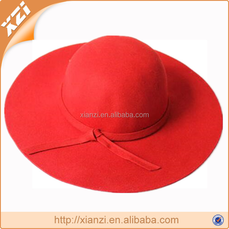 Best Vintage Lady Wide Brim Wool Felt Bowler Floppy Hats For Winter