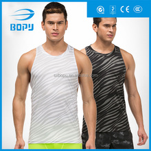 sports custom gym stringer vest for men