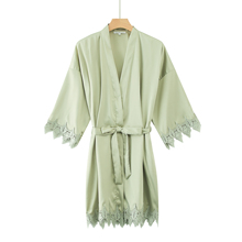 Women bride robe Silk satin robe bride  kimono Women Robe