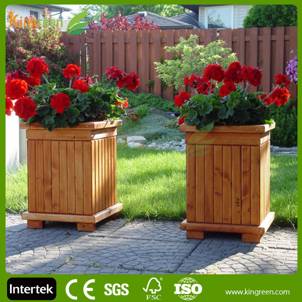 Outdoor Water Proof Professional Wpc Flower Box Wood