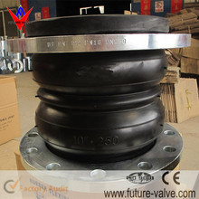 DN100 PN16 Double Sphere Rubber Expansion Joint With Flange Connection