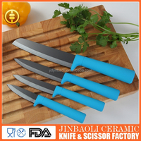 Factory hot sale black matt blade ceramic kitchen knife set
