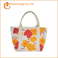 Custom organic cotton tote bag looping strap