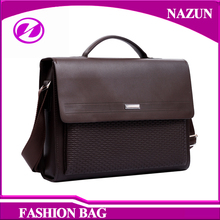 factory custom logo low moq hot sale business bag PU leather men's briefcase