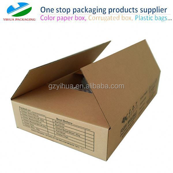 wax application frozen box with printing for meat storage in cold environment