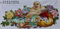 100% Hand Stitched Cross Stitch of Laughing Buddha (130cm x 60cm)