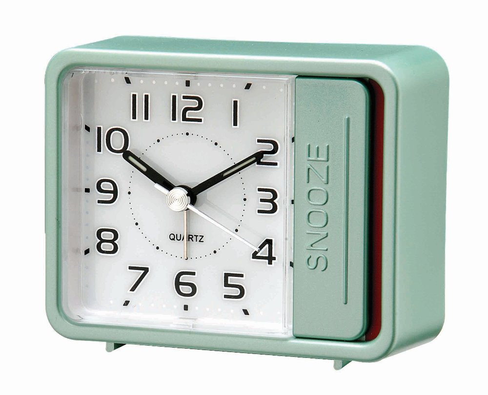 Pinky color square shape touch push light Alarm clocks