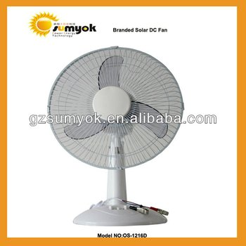"12"",16"" DC Solar Fan supplied by Guagnzhou SUMYOK Factory"