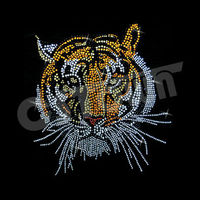 Classic design hotfix stones tiger iron on transfers